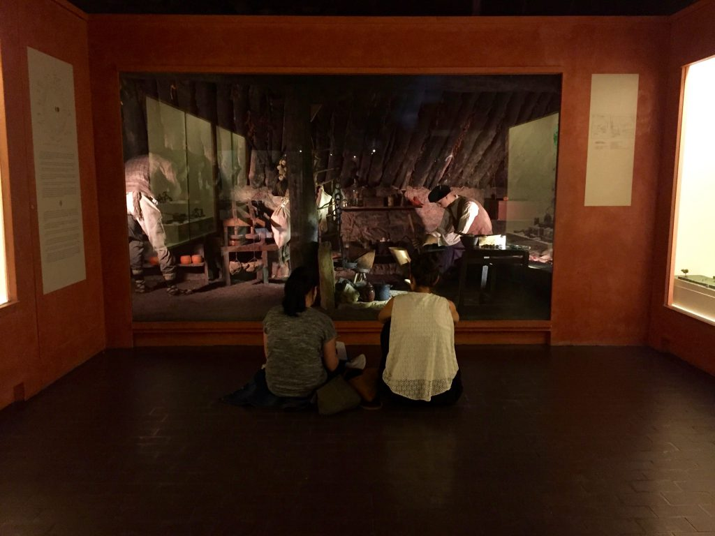 Looking closely and exploring the complexity of a diorama at the Euskal Museoa.